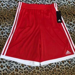 Adidas Boys Navy French Terry Basketball Shorts